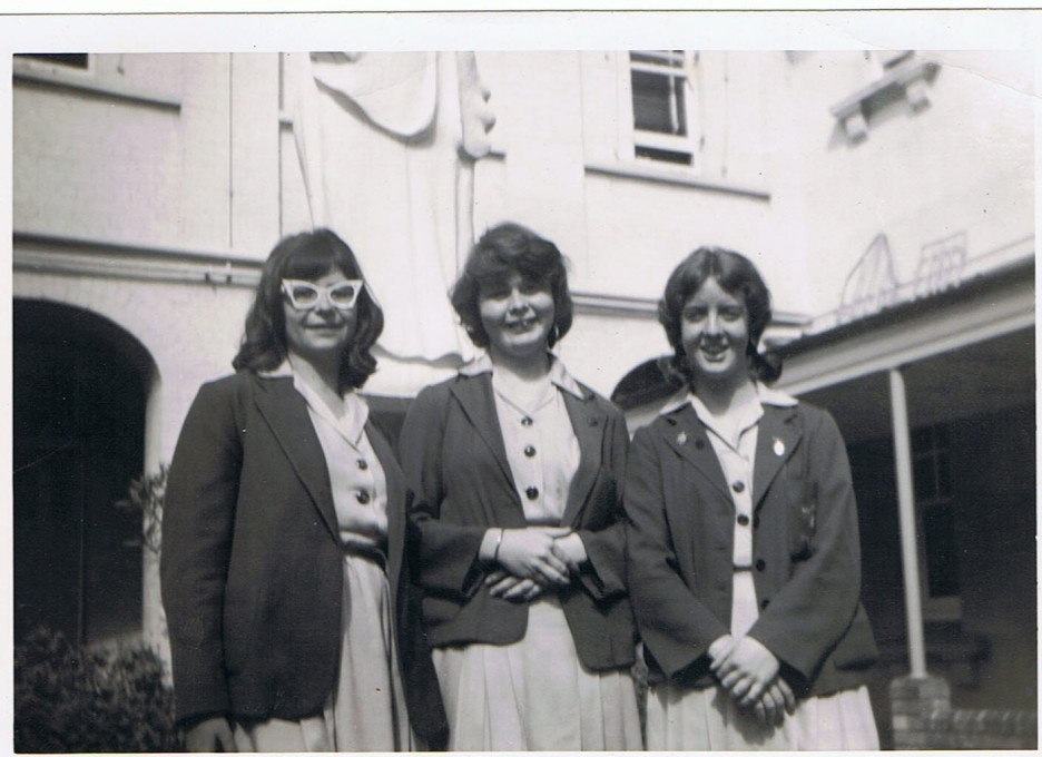 My mum (far right) at school in Sydney.